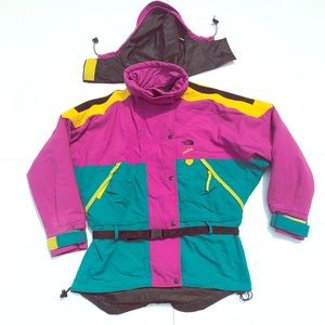 North Face Vertical Large Vintage Coat Colorblock